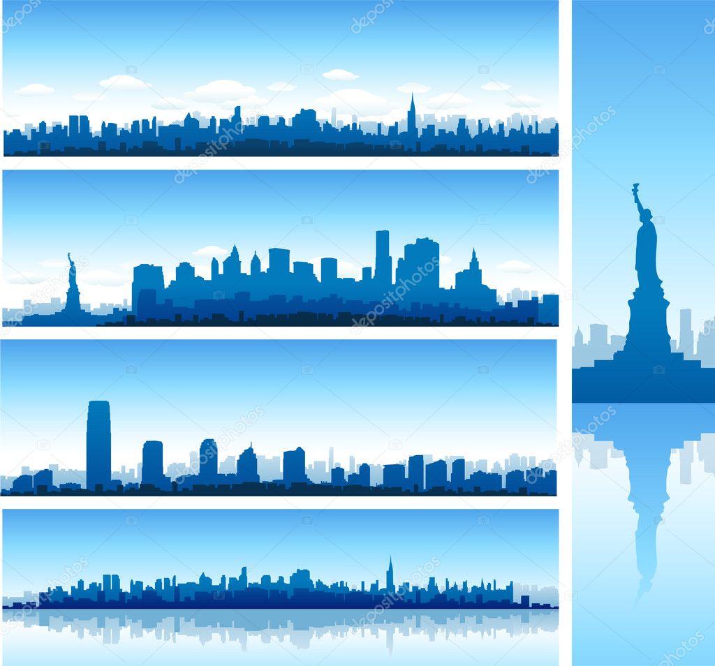 New york city silhouettes