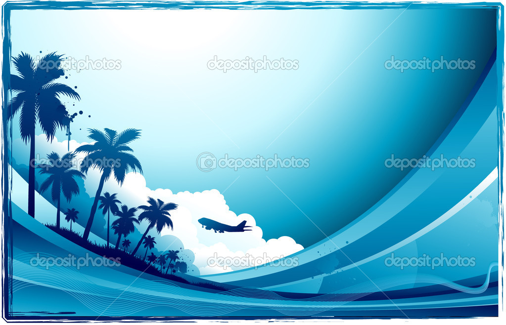 Travel beach background