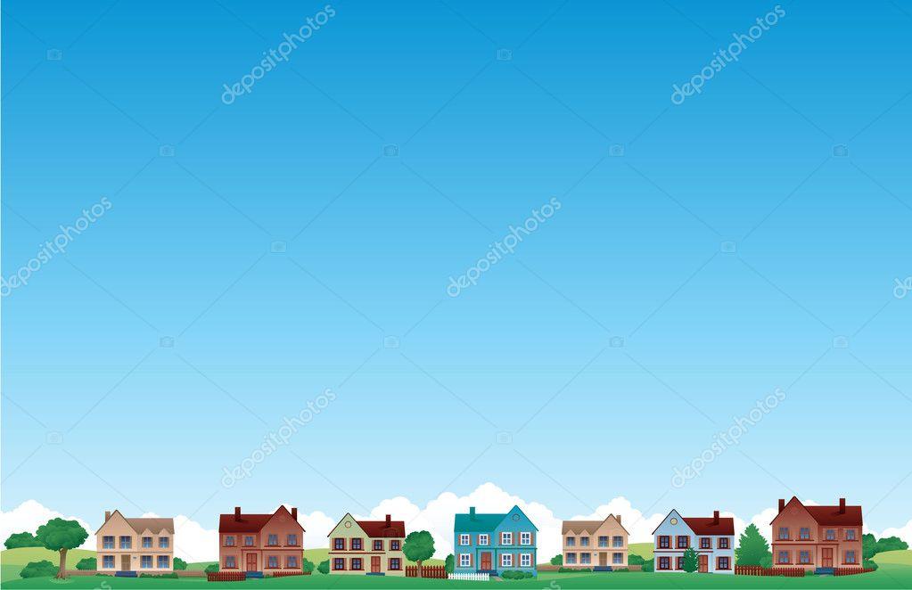 City skylines background