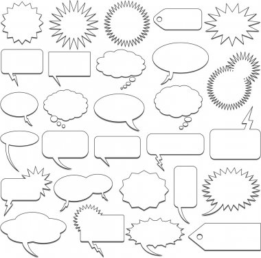 Talking bubble and communication elements clip art vector