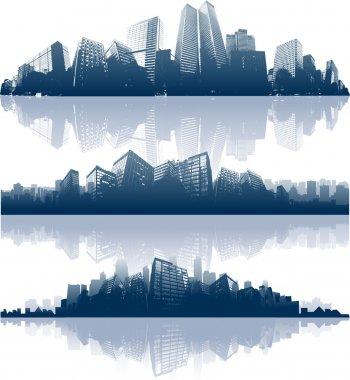 "Картина, постер, плакат, фотообои ""Фоне горизонты города"", артикул 6434482"
