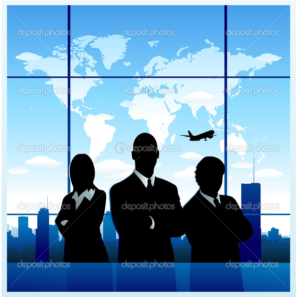 Travel Agency Business Background Stock Vector