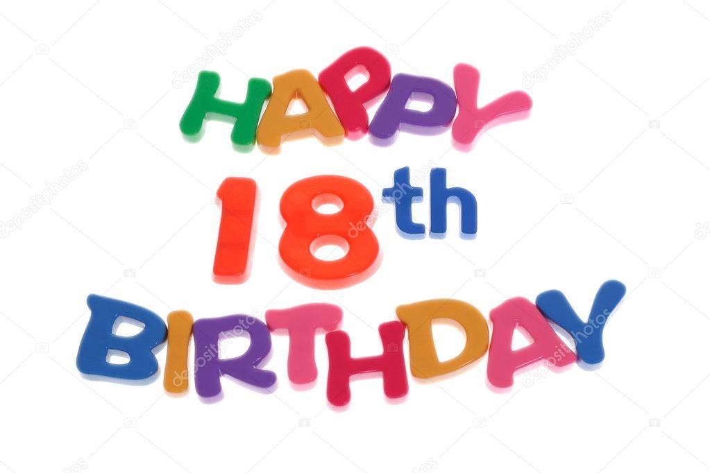 happy 18th birthday stock photo design56 6542425