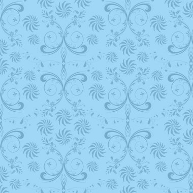 Ornamental floral seamless background