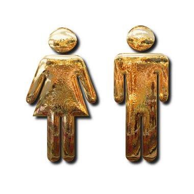 Goldem man and woman symbols