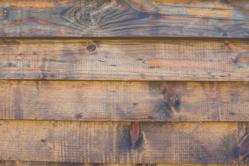 Horizontal Wood Fence Texture horizontal wooden fence texture close up — stock photo