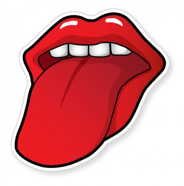 Open mouth with tongue