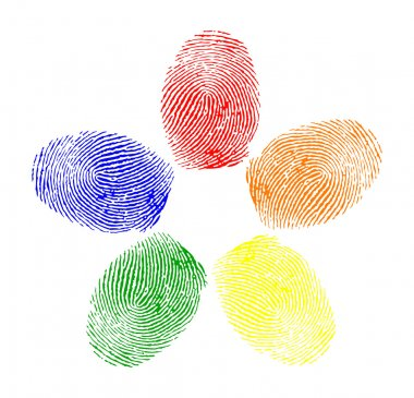 Vector of colored fingerprints