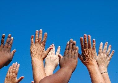 Global freedom hands