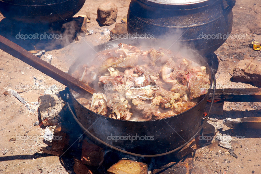African traditional food stock photo ankevanwyk 6504899 for Fire pots south africa