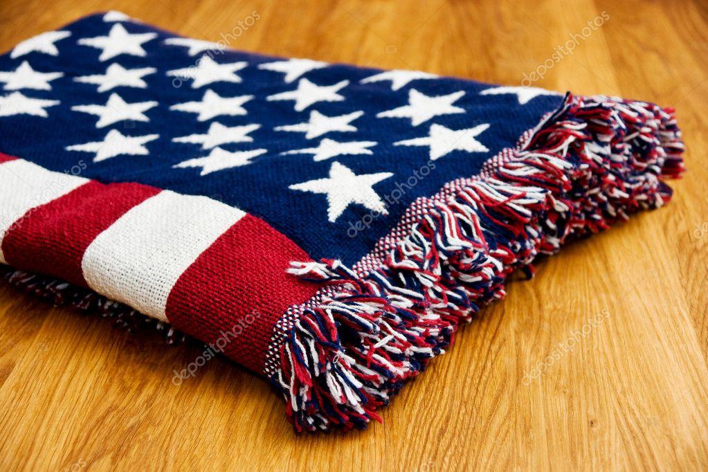 Coperta di bandiera americana foto stock byggarn79 for Piani di coperta personalizzati