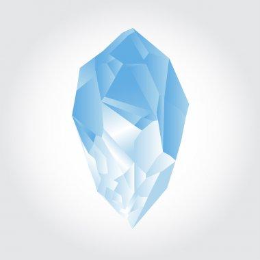 Blue Crystal on light-grey background stock vector