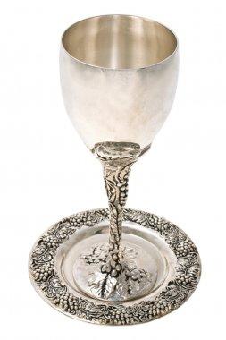 Kiddish cup with wine