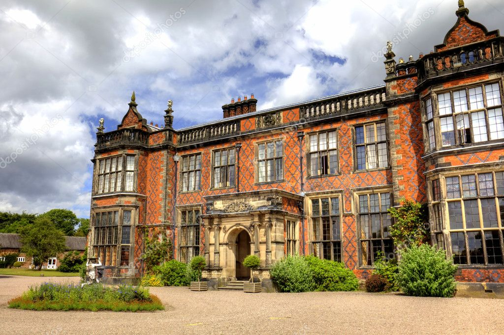 English stately home and gardens