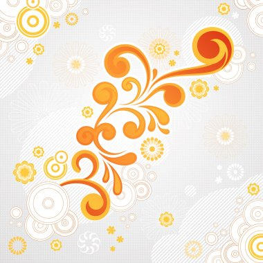 Abstract swirl floral background in vector