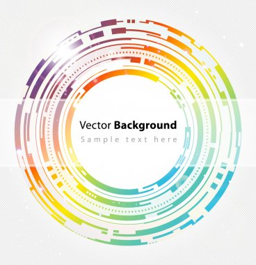 Abstract colorful technology circles vector background