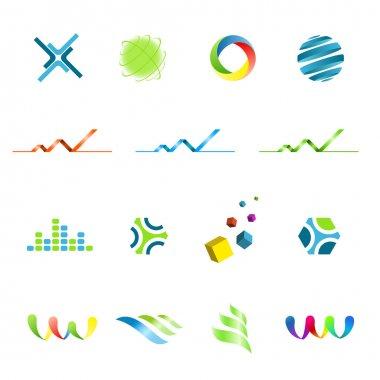 Logo design elements set