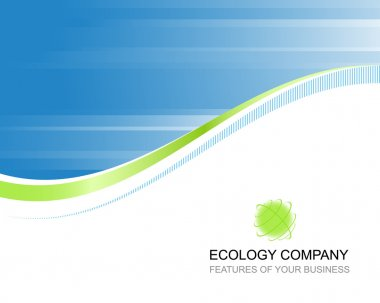 Ecology company template background with logo