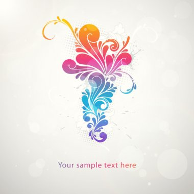 Abstract colorful pattern splash symbol