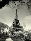 Fotografie starý čas Eiffelova věž zobrazení