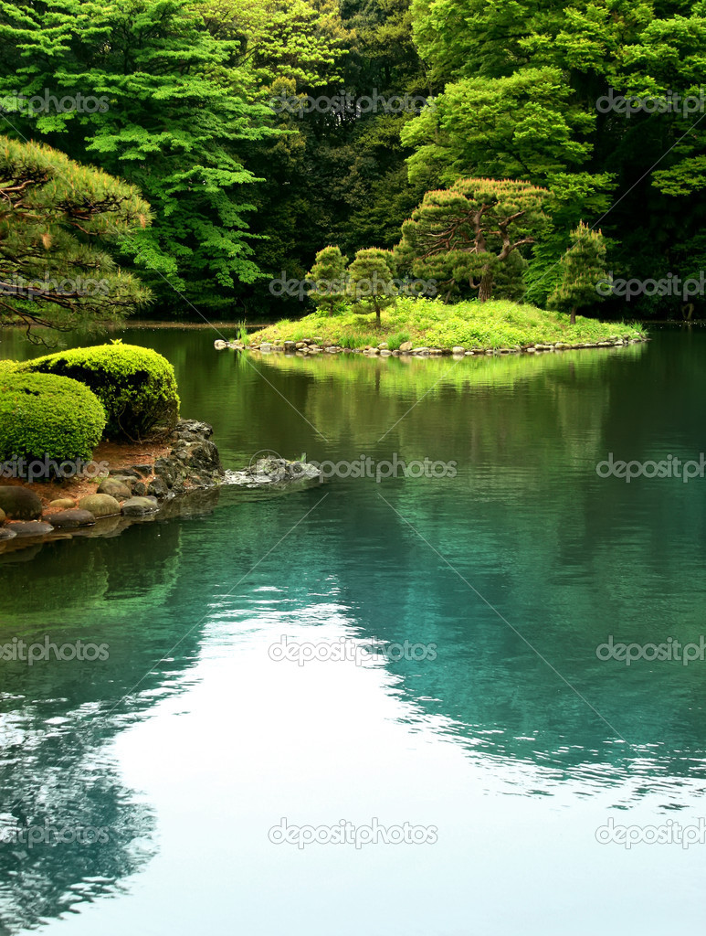 Calm zen lake