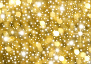Background gold and stars
