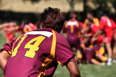 Rugby player in action