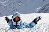 lyžař dívka