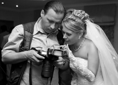 Bride and photographer