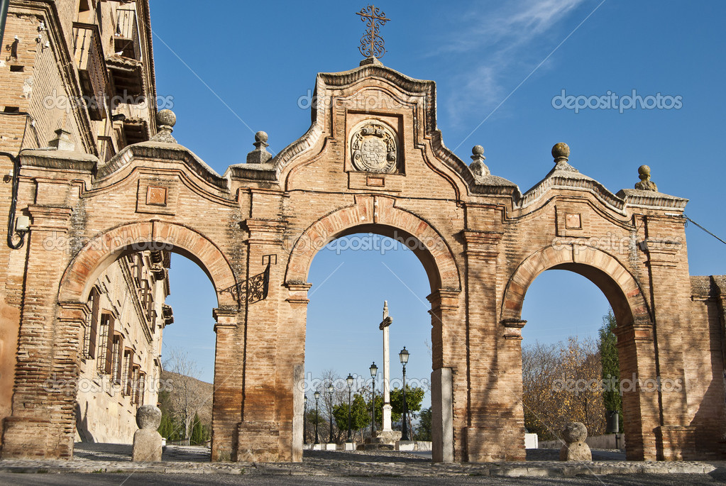 Archways at the Abbey of Sacromonte, Granada — Stock Photo