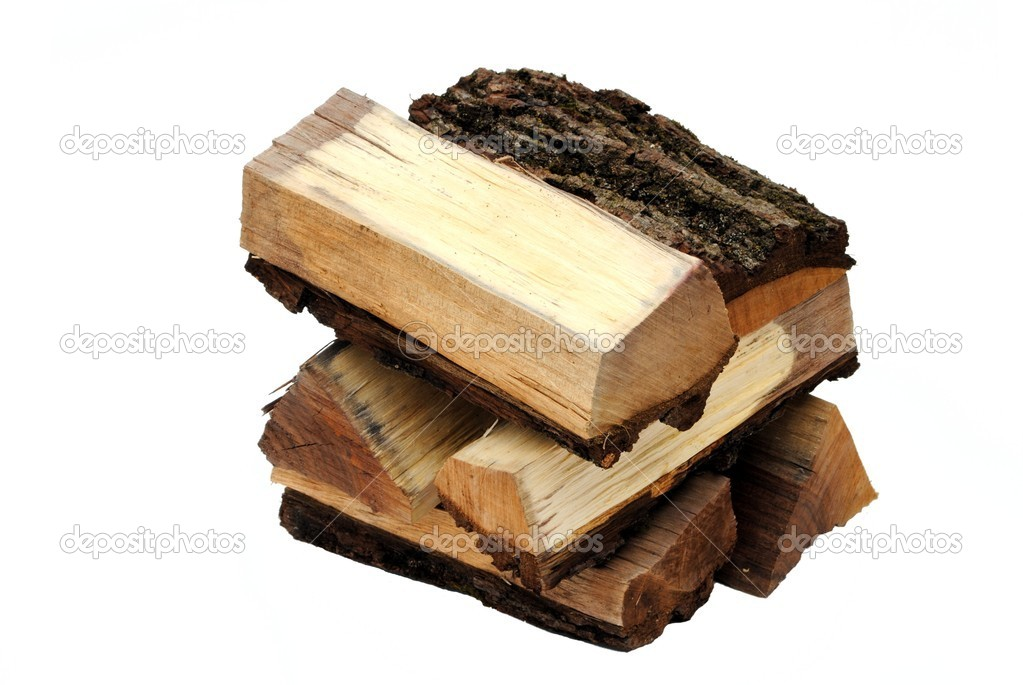 Pieces of wood isolated on white background