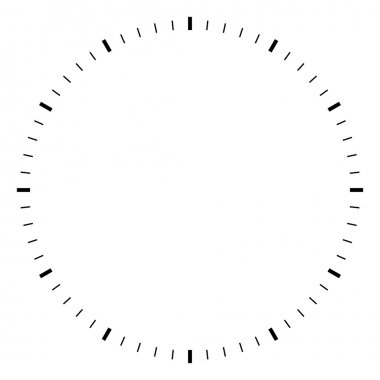 Simple round black and white clock