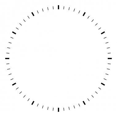 Simple round black and white clock