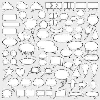Huge cartoon speech bubble set stock vector