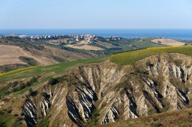 Atri Natural Park (Teramo, Abruzzi, Italy), landscape at summer,