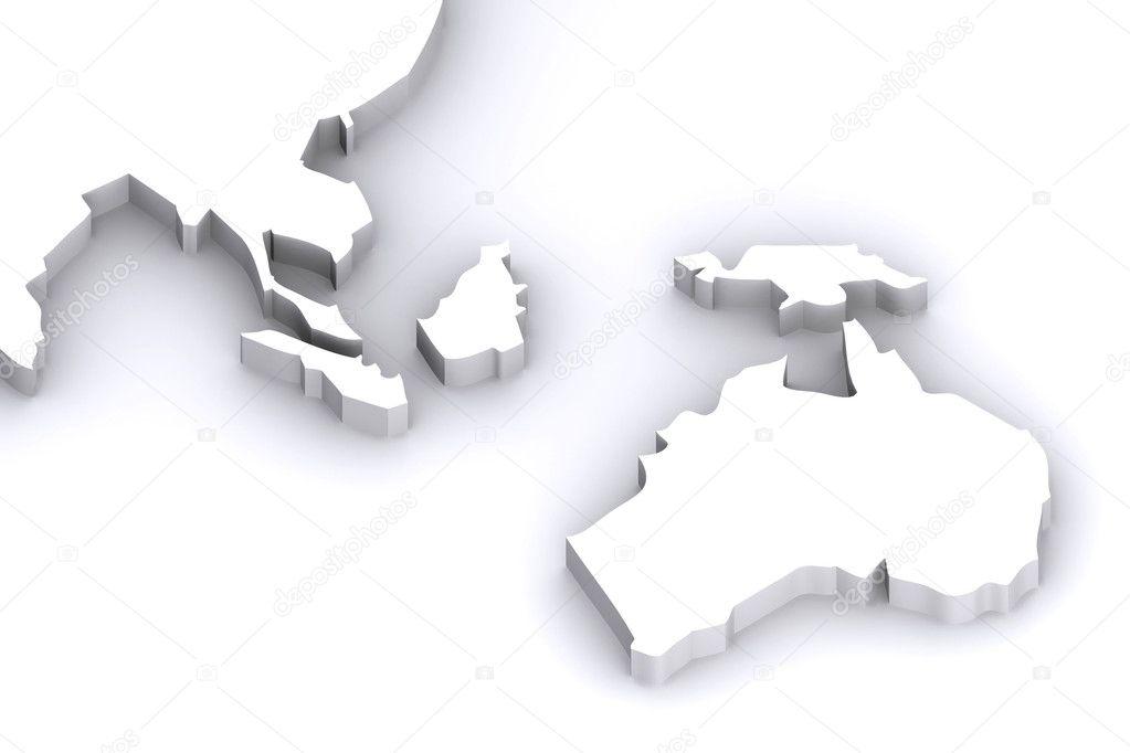 Map Of Australia Japan.Australia Japan Map Stock Photo C Rustonwayne 6727558