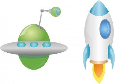 Rocket and UFO