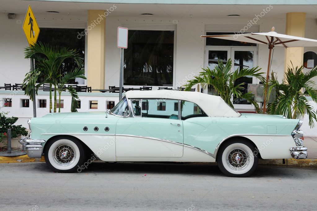 Old Car in Miami South Beach, Florida USA – Stock Editorial Photo ...
