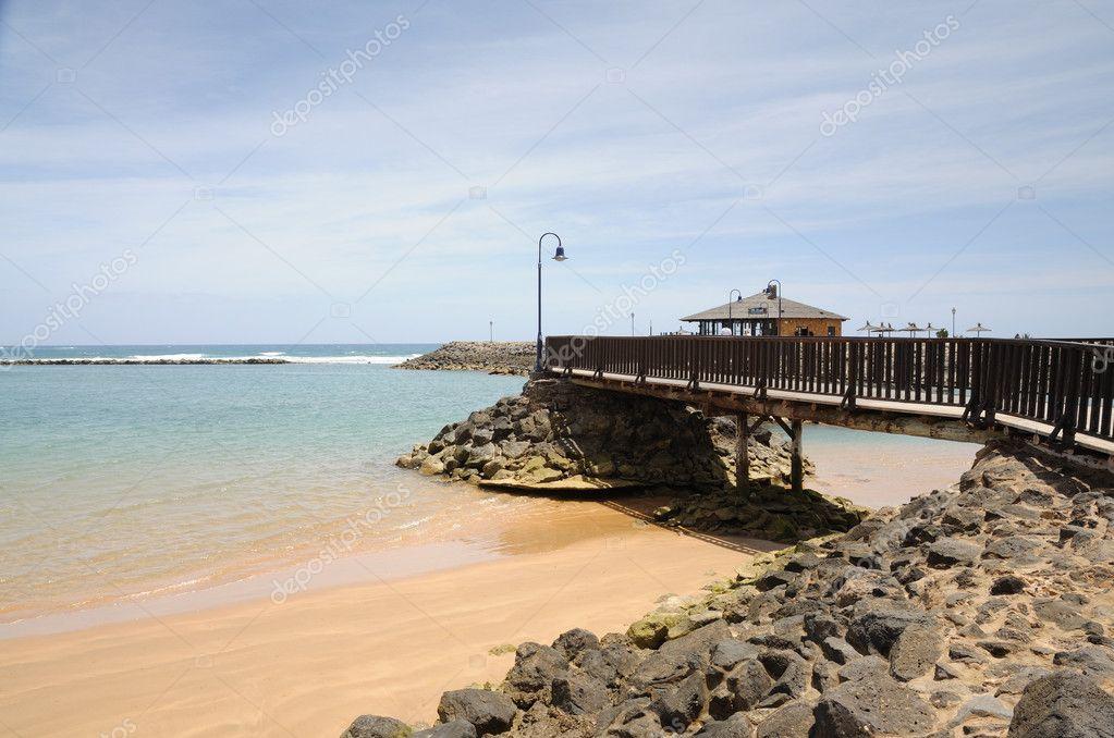 Strand In Caleta De Fuste. Kanarischen Insel Fuerteventura, Spanien U2014  Stockfoto