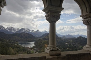 Panoramic view from the castle of Neuschwanstein