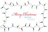 Natale luci telaio isolato su sfondo bianco con copia sp