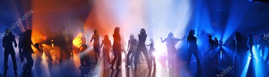 Disco. Dancing in a disco