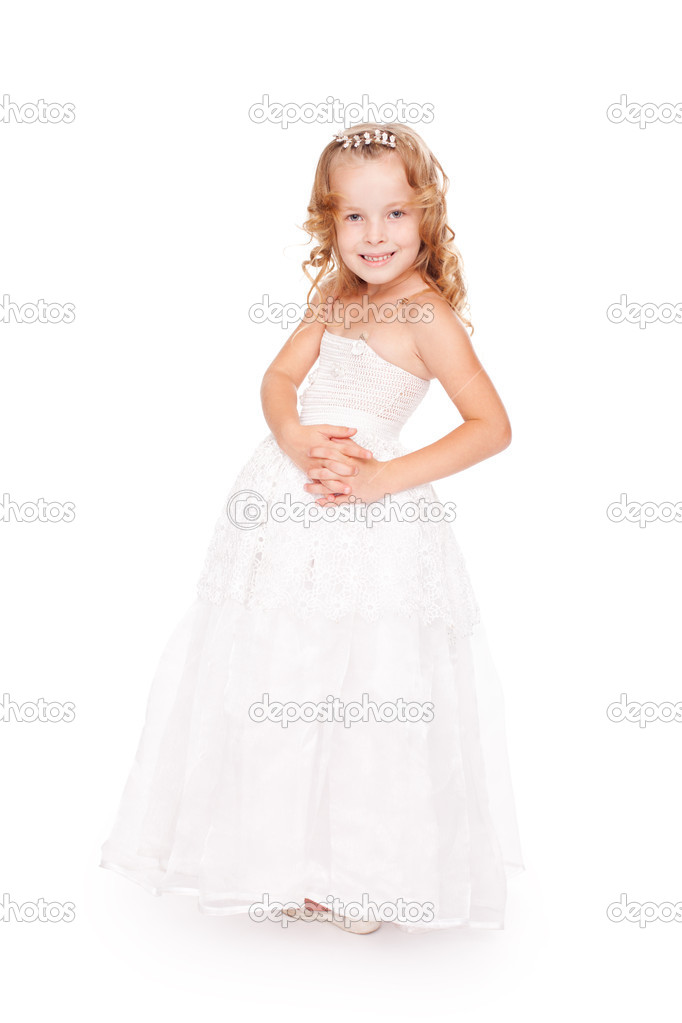 Petite Robe Belle En Fille Jolie Photographie Blanche — Gladkov qzUSpMVG