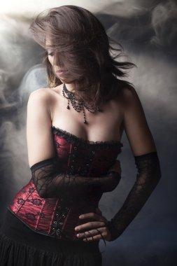 Beautiful romantic goth girl