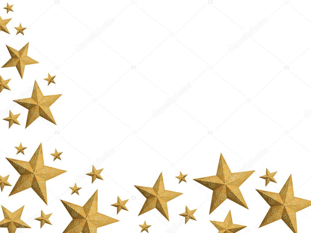 golden christmas stars stream isolated stock photo. Black Bedroom Furniture Sets. Home Design Ideas