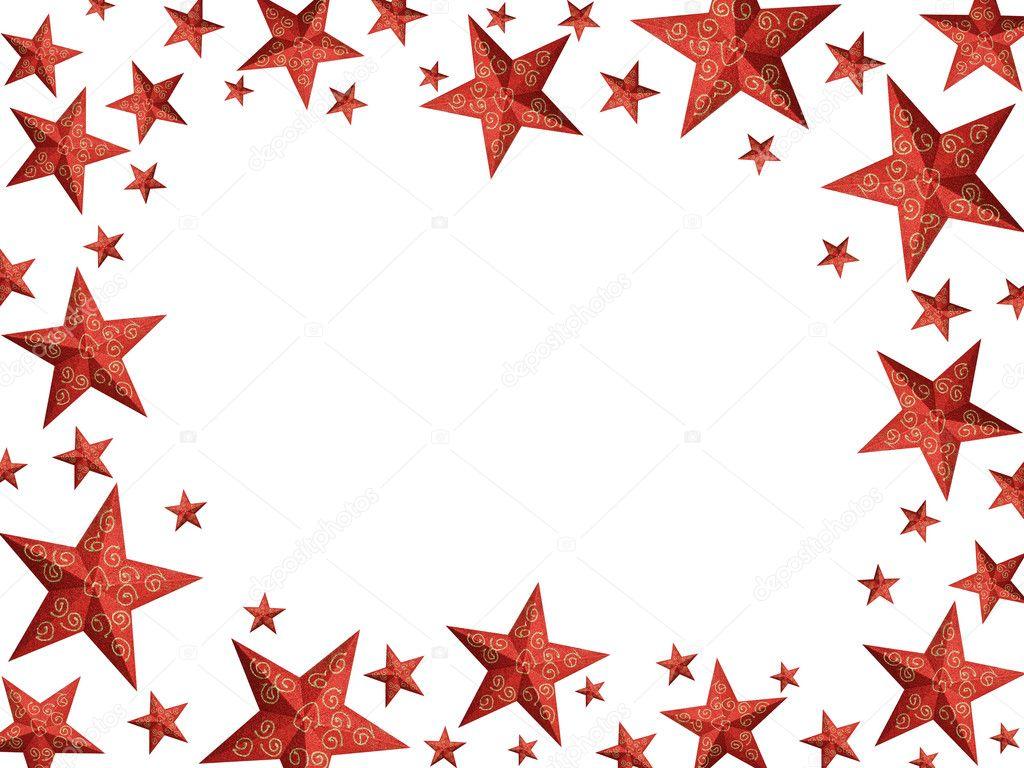 leuchtend rote sterne weihnachten frame isoliert. Black Bedroom Furniture Sets. Home Design Ideas