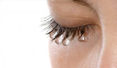 Woman tears