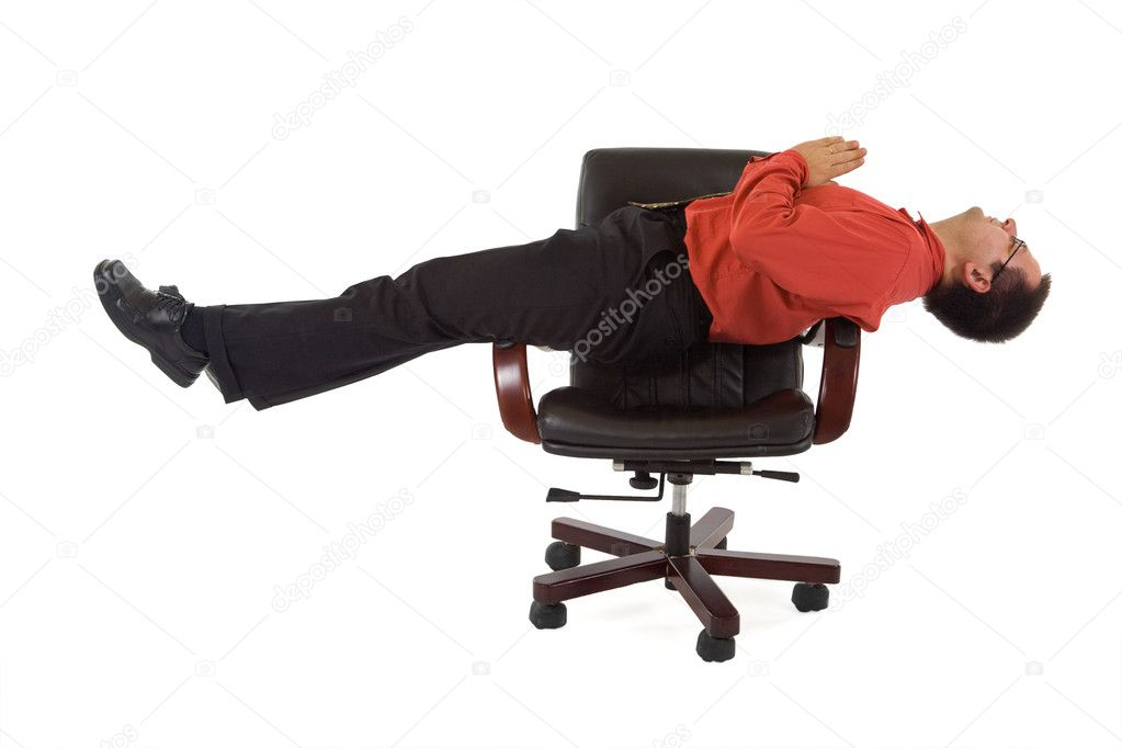 office relaxation. Businessman Or Office Worker Relaxing On The Chair - Isolated \u2014 Photo By Lightkeeper Relaxation P