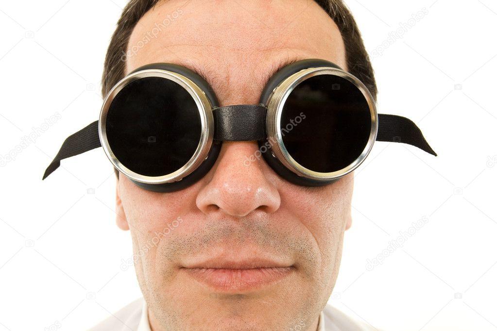 hombre con grandes anteojos oscuros — Foto de stock © lightkeeper ... 31752d5fd69