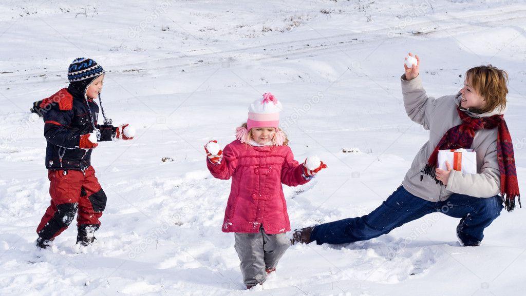 Enjoying first or last snow